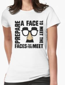 Prepare A Face Womens Fitted T-Shirt