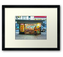 New York City News Stand Framed Print