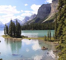 Spirit Island, Maligne Lake, Canada. by Eunice Atkins