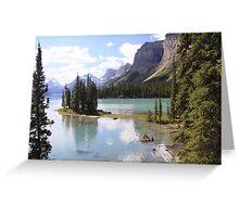 Spirit Island, Maligne Lake, Canada. Greeting Card