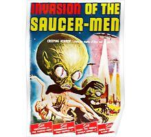 Invasion of the Saucer Men Vintage Poster