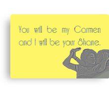 Shane & Carmen - Love - The L Word Canvas Print
