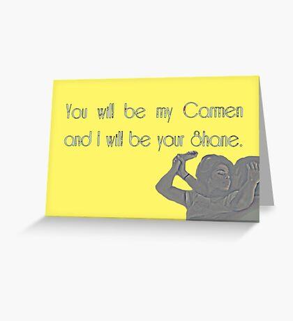 Shane & Carmen - Love - The L Word Greeting Card
