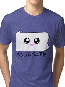 Kawaii Pennsylvania - ペンシルベニア州 Tri-blend T-Shirt