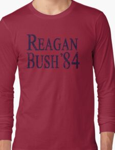 Retro Reagan Bush '84 Election Long Sleeve T-Shirt