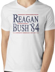 Retro Reagan Bush '84 Election Mens V-Neck T-Shirt