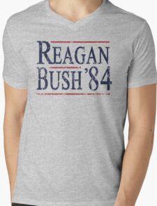 Retro Reagan Bush '84 Election Mens V-Neck T-Shirt