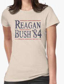 Retro Reagan Bush '84 Election Womens Fitted T-Shirt
