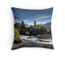 Spokane Riverfront Falls Throw Pillow