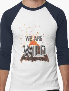 "Young Volcanoes- Fall Out Boy ""We Are Wild"" Design  Men's Baseball ¾ T-Shirt"