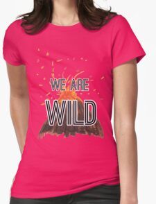 """Young Volcanoes- Fall Out Boy """"We Are Wild"""" Design  Womens Fitted T-Shirt"""
