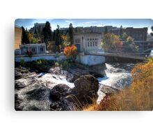 Washington Water Behind the Falls Metal Print