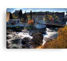 Washington Water Behind the Falls Canvas Print