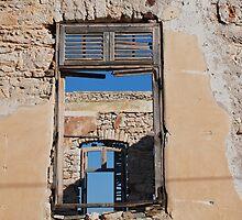 Broken window, Halki island by David Fowler