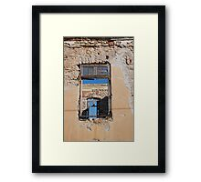 Broken window, Halki island Framed Print