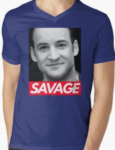 Stay Savage Mens V-Neck T-Shirt
