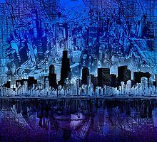 chicago city skyline 4 by BekimART