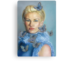 Chelsea  with butterflies Canvas Print