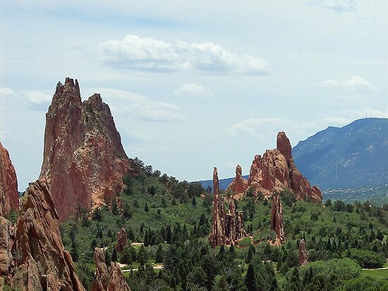 The Garden of the Gods, Colorado Springs by David  Hughes