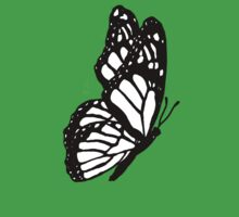 Black and White Butterfly Kids Clothes