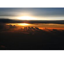 Sunset From The Air Near Iwo Jima Photographic Print