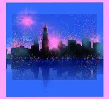 chicago city skyline 6 by BekimART