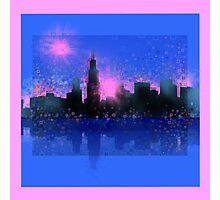 chicago city skyline 6 Photographic Print