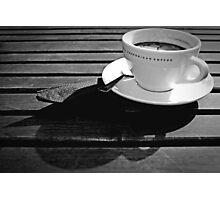 Coffee Cup Shadows Photographic Print