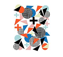 Kimbah - abstract art print shapes modern geometric retro cool colorful hipster gift idea dorm room  Photographic Print