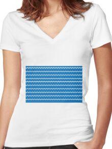 Swimming Women's Fitted V-Neck T-Shirt