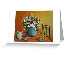 Flannel flowers and fruit Greeting Card