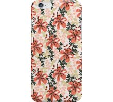Tiger Lily watercolor pattern print nature retro boho garden cottage english garden lily flower  iPhone Case/Skin