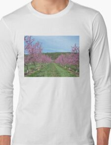 Peach Orchard in Bloom Long Sleeve T-Shirt