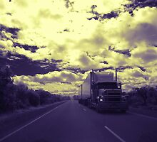 Roadtrain on Brand Hwy, Western Australia by BigAndRed