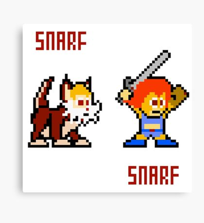 Thundercats 8bit Lion-O and Snarf Canvas Print