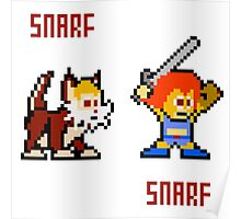Thundercats 8bit Lion-O and Snarf Poster
