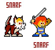 Thundercats 8bit Lion-O and Snarf Photographic Print