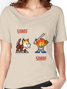 Thundercats 8bit Lion-O and Snarf Women's Relaxed Fit T-Shirt