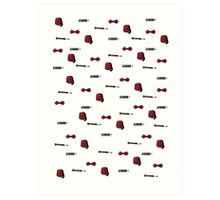 Doctor Who Eleventh patterns Art Print