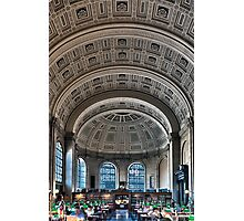 Boston Public Library  Photographic Print