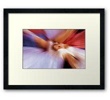 Touch base Framed Print