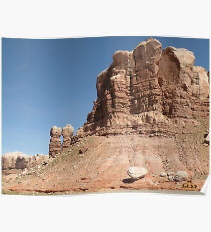 Mountain Formation near Bluff, Utah Poster