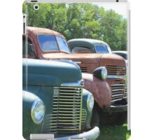 Antique Trucks in a Row iPad Case/Skin