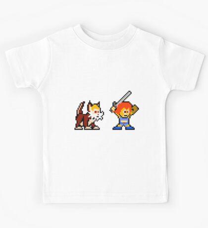 Thundercats 8bit Lion-O and Snarf no text Kids Tee