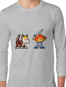 Thundercats 8bit Lion-O and Snarf no text Long Sleeve T-Shirt