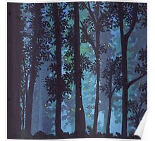 Twilight Woods and Fireflies. Poster