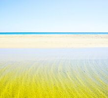 Abstract beach colours on Moreton Island by Keiran Lusk