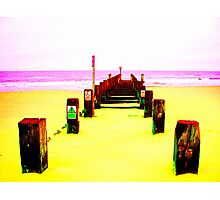 Out to Sea- Yellow Photographic Print