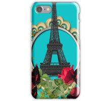 Oval Flower and eiffel tower iPhone Case/Skin