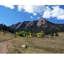 1st Flatiron - Boulder, Colorado Photographic Print